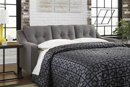 Signature Design by Ashley 5390139 Brindon Charcoal Queen Sofa
