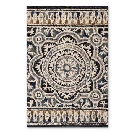 2 X3 Floral Belfast Hooked Accent Rug Indigo Threshold Tufted Rug Target Rug Accent Rugs