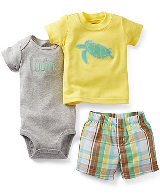 Carters Baby Boys Ahoy 3-Piece Shorts Set