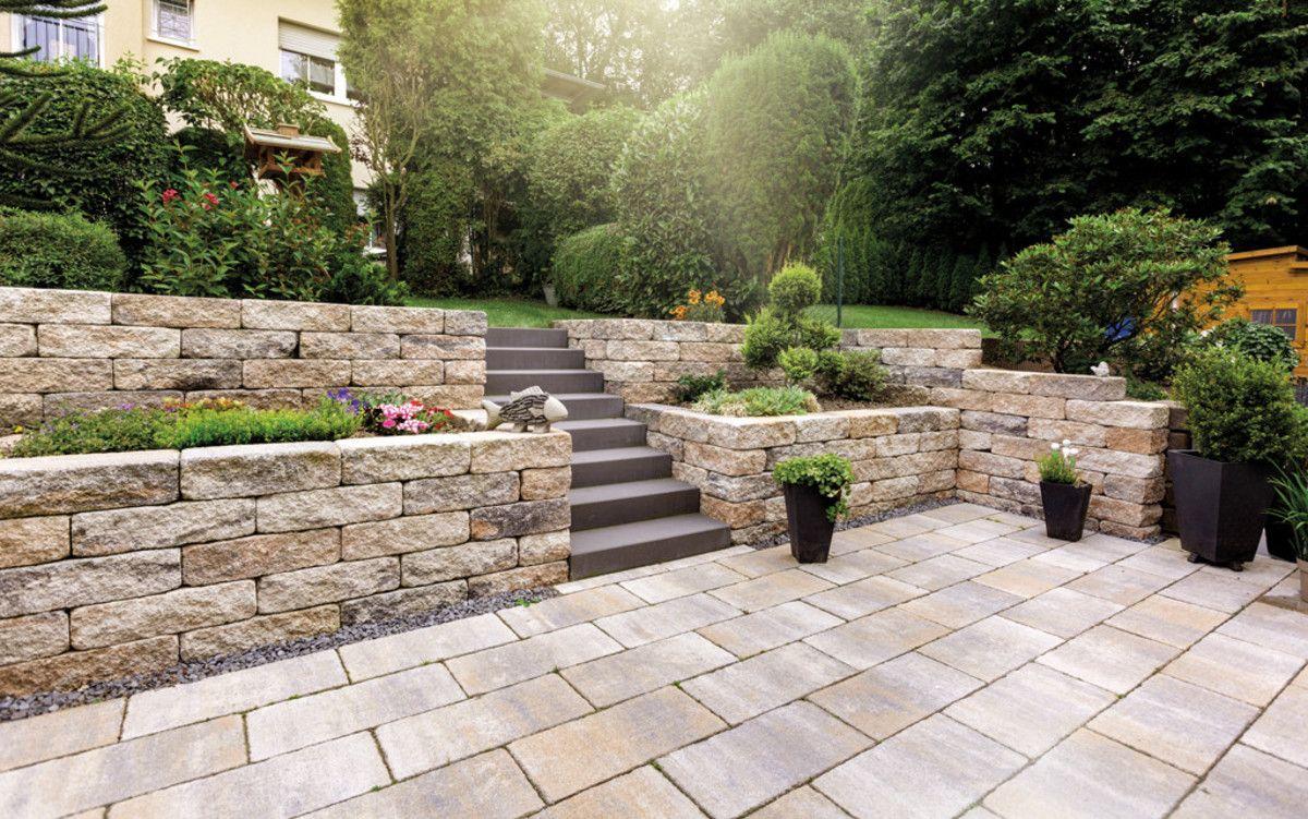 Bossantik Mauer Natursteine Garten Garten Stufen Garten