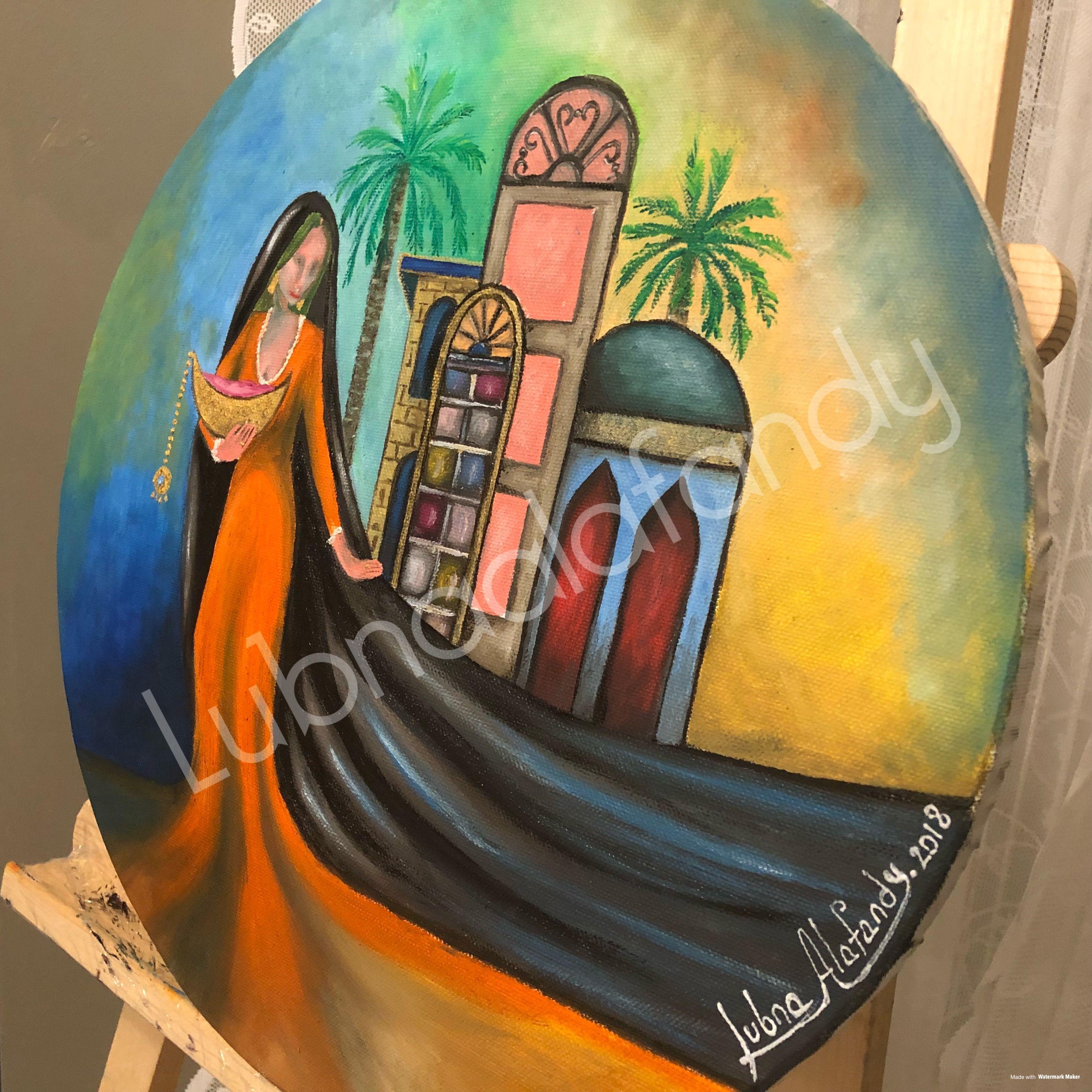 لبنى الافندي زيت على كانفاس رسم الوان فن تشكيليون فن عراقي تراث تراث عراقي شناشيل Egyptian Art Arabic Calligraphy Design Cute Coloring Pages