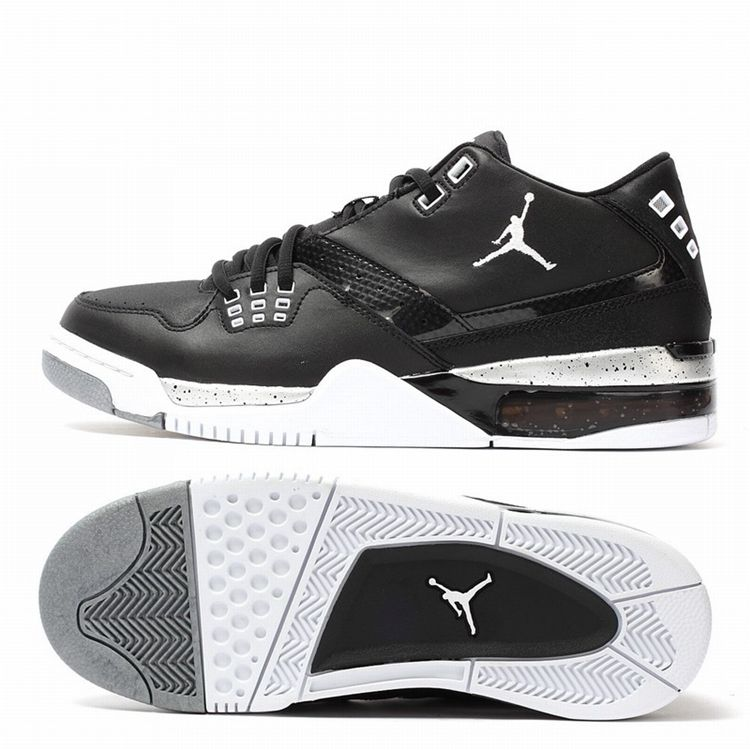 71f2af5515a NIKE JORDAN FLIGHT 23 BLACK WHITE METALLIC SILVER 317820 011 $149 ...
