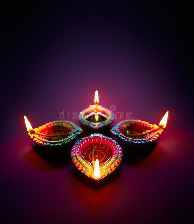 Diwali Oil Lamp Colorful Clay Diya Lamps Lit During Diwali Celebration Ad Colorful Clay Lamp Diwali Happy Diwali Images Diwali Images Happy Diwali