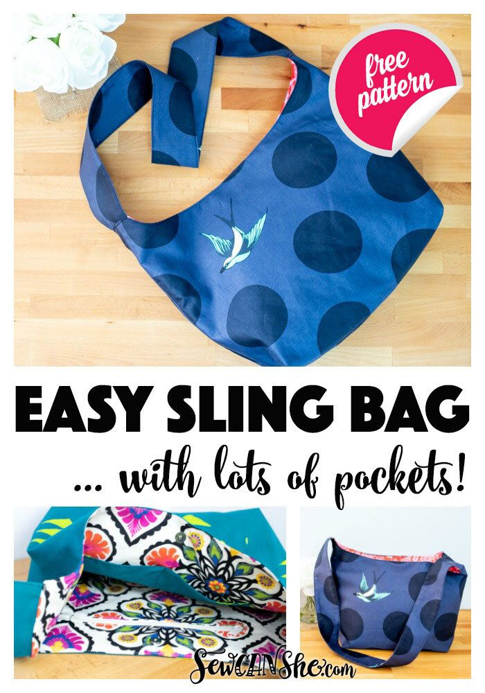 Photo of Easy Sling Bag – free sewing pattern — SewCanShe | Free Sewing Patterns and Tutorials