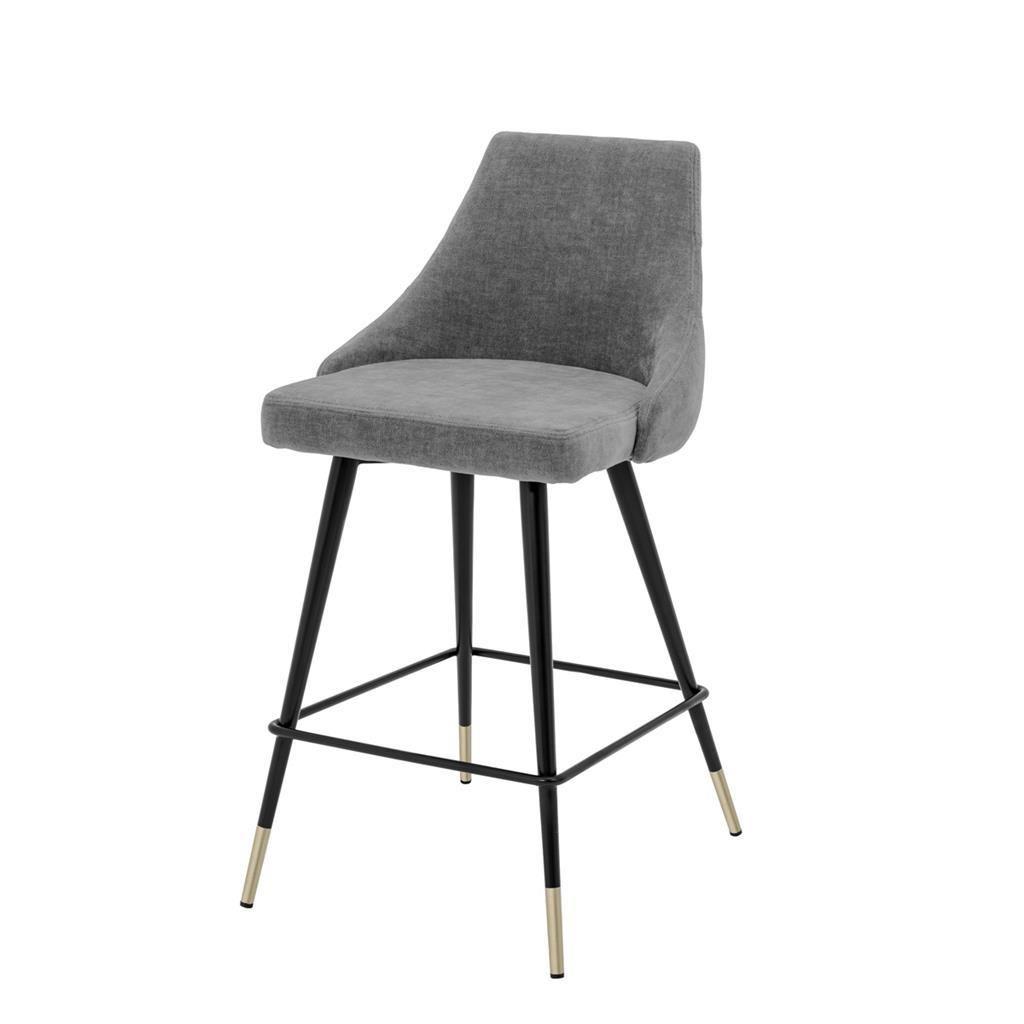 Gray Upholstered Counter Stool Eichholtz Cedro Luxury Bar Stools Counter Stools Bar Stools