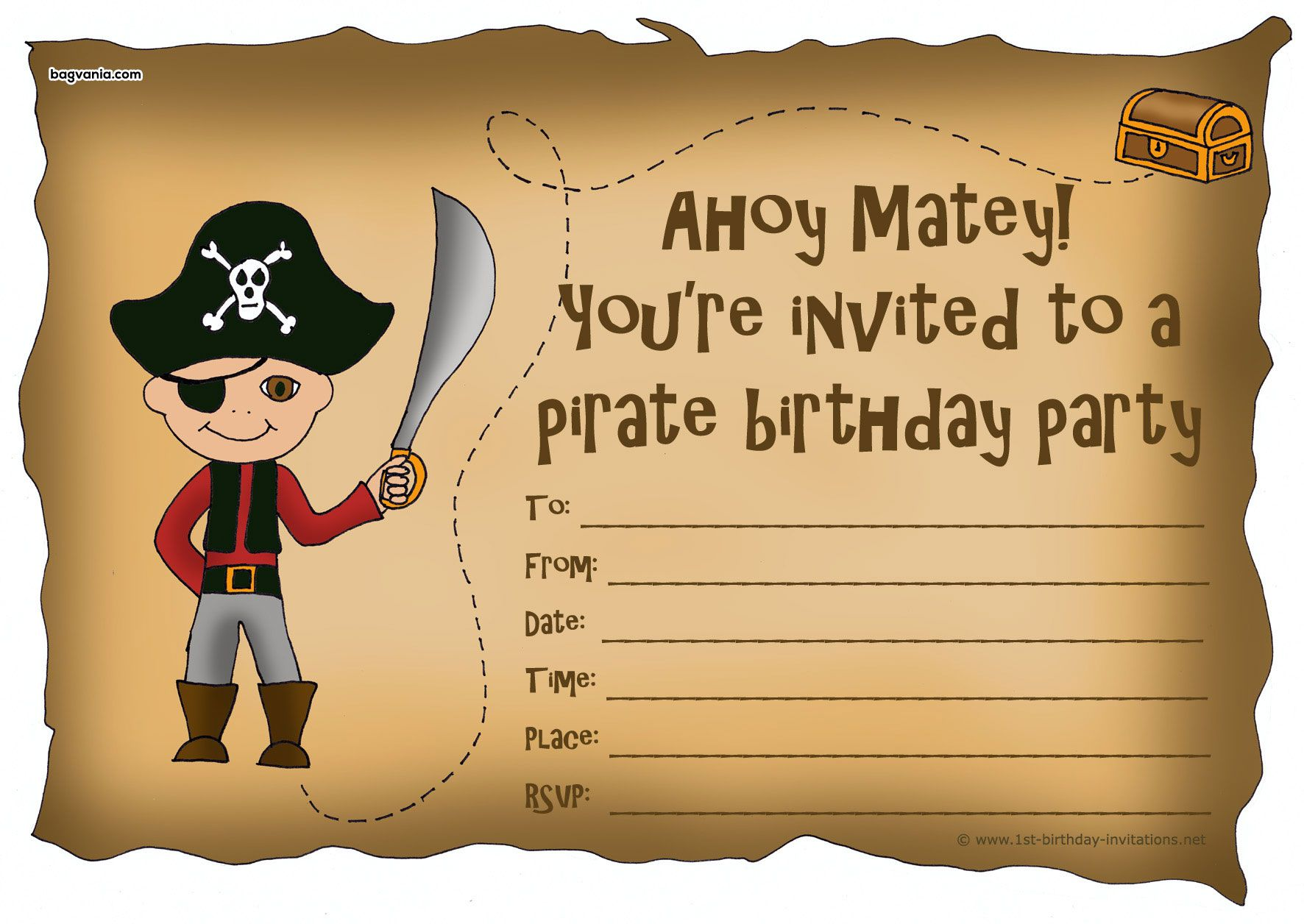 Download Pirates Birthday Invitations | FREE Printable Invitation ...