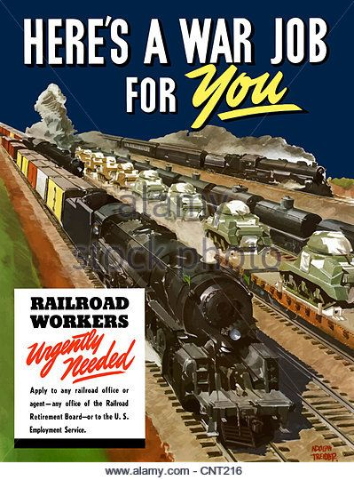 Rail Transport : Vintage wartime advertising reproduction. poster Wall art