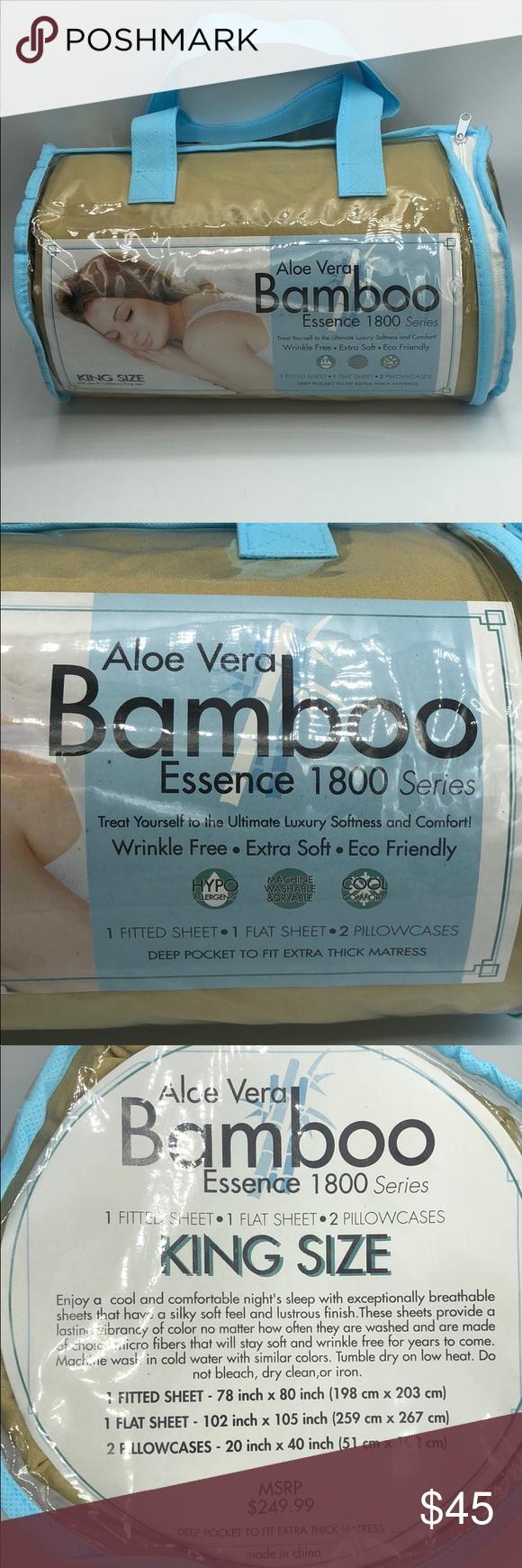 NWT aloe Vera bamboo pillow king size