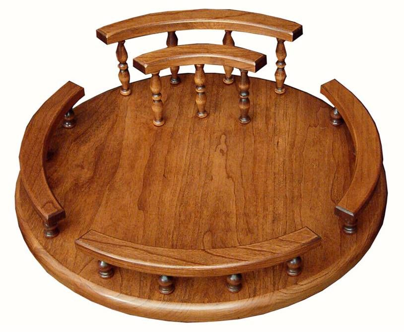 lazysusans Lazy Susan with Rails and