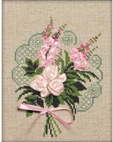 Riolis Scottish Heather Flowers Cross Stitch Kit Cross Stitch Flowers Brazilian Embroidery Cross Stitch