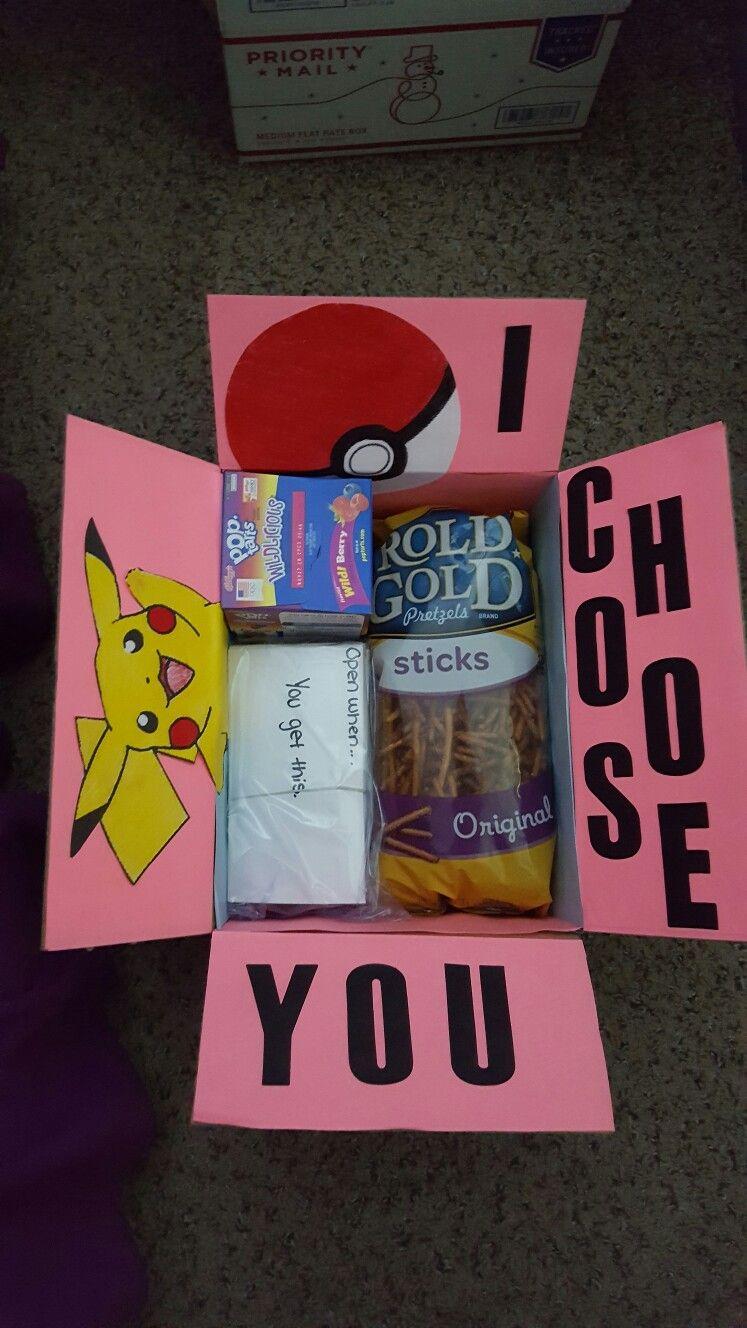 Pokemon care package … Birthday gifts for boyfriend diy