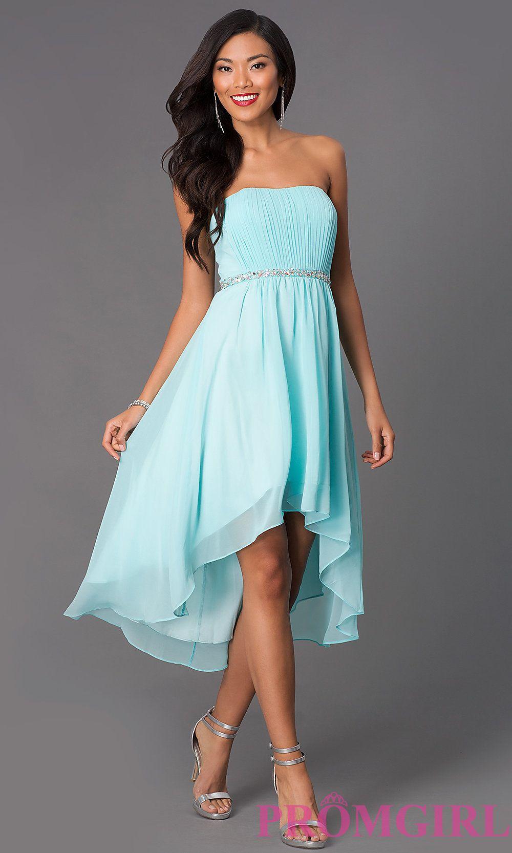 Teal High Low Dress   Good Dresses