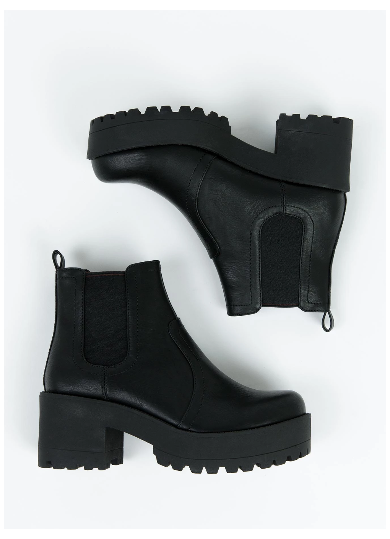 Lipstik Black Eamon Boots #chunky
