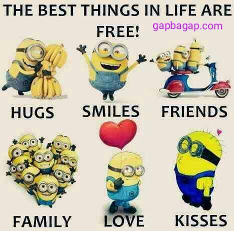Minions The Best Things In Life Are Free With Images Minions