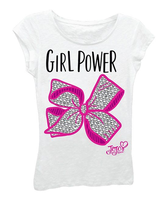 108e00314aa6f Take a look at this JoJo Siwa White  Girl Power  Tee - Girls today ...