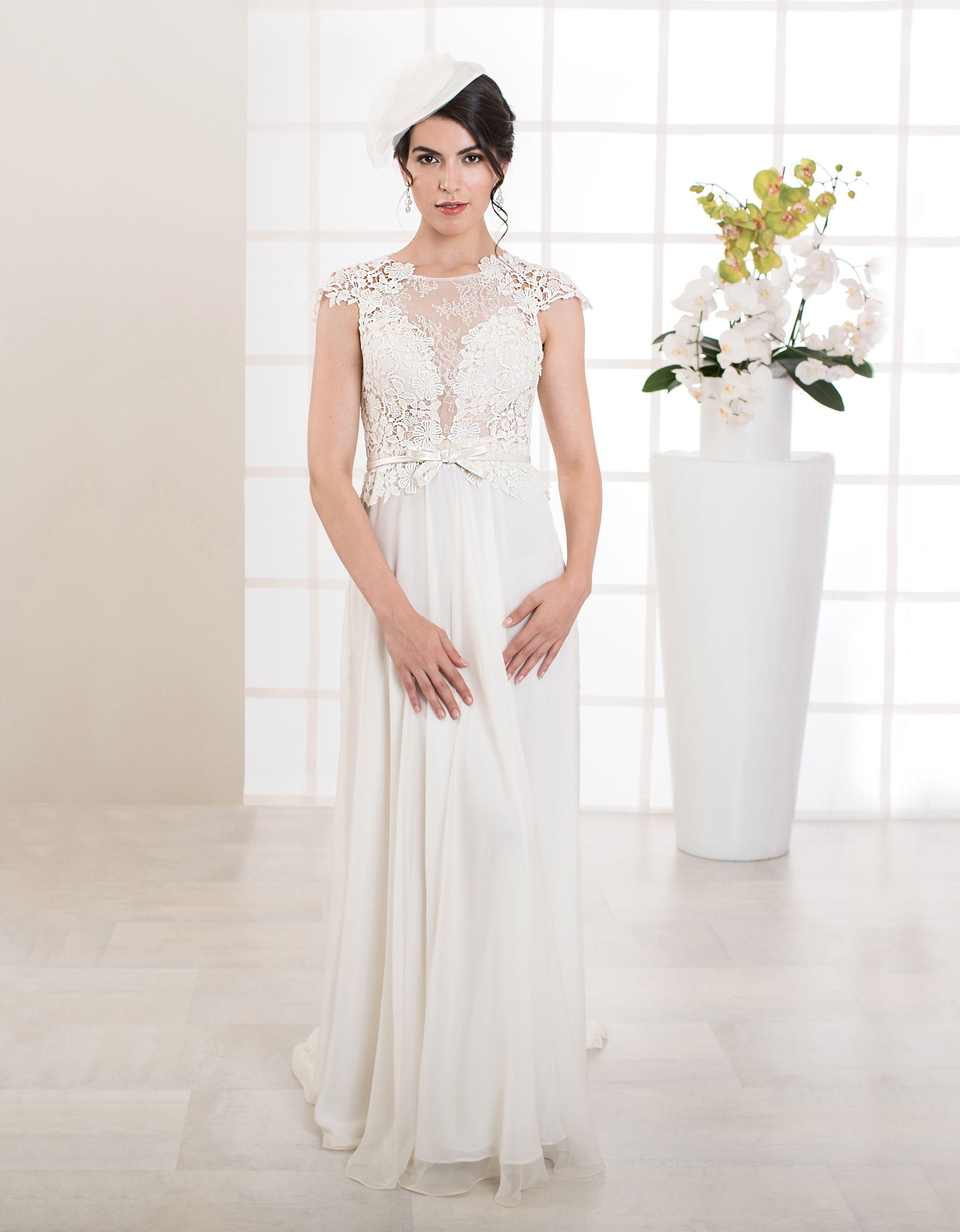 Brautkleid Felice in A-Linie mit tiefem Rücken-Ausschnitt und ...