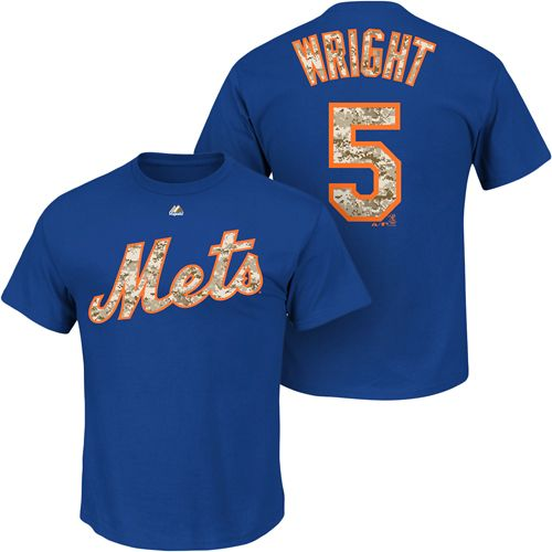 info for df685 5156a New York Mets David Wright Memorial Day Camo Name & Number T ...