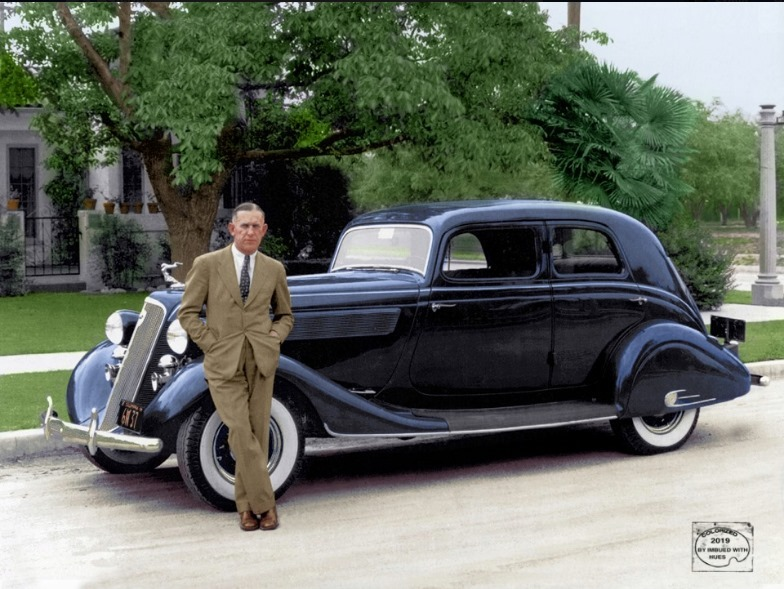 A gentleman along side the ever stylish 1935 Studebaker President Land Cruiser. in 2020   Land ...
