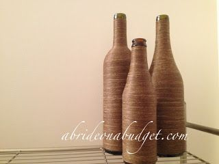 DIY: Twine-Wrapped Wine Bottle Centerpieces Tutorial   A Bride On A Budget