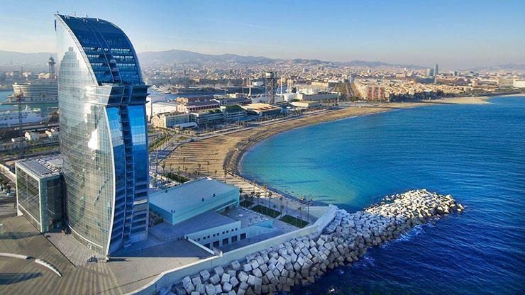 5 Star Luxury Hotel W Barcelona A K A Sail Hotel Barcelona Beach Barcelona Hotels Barcelona Spain