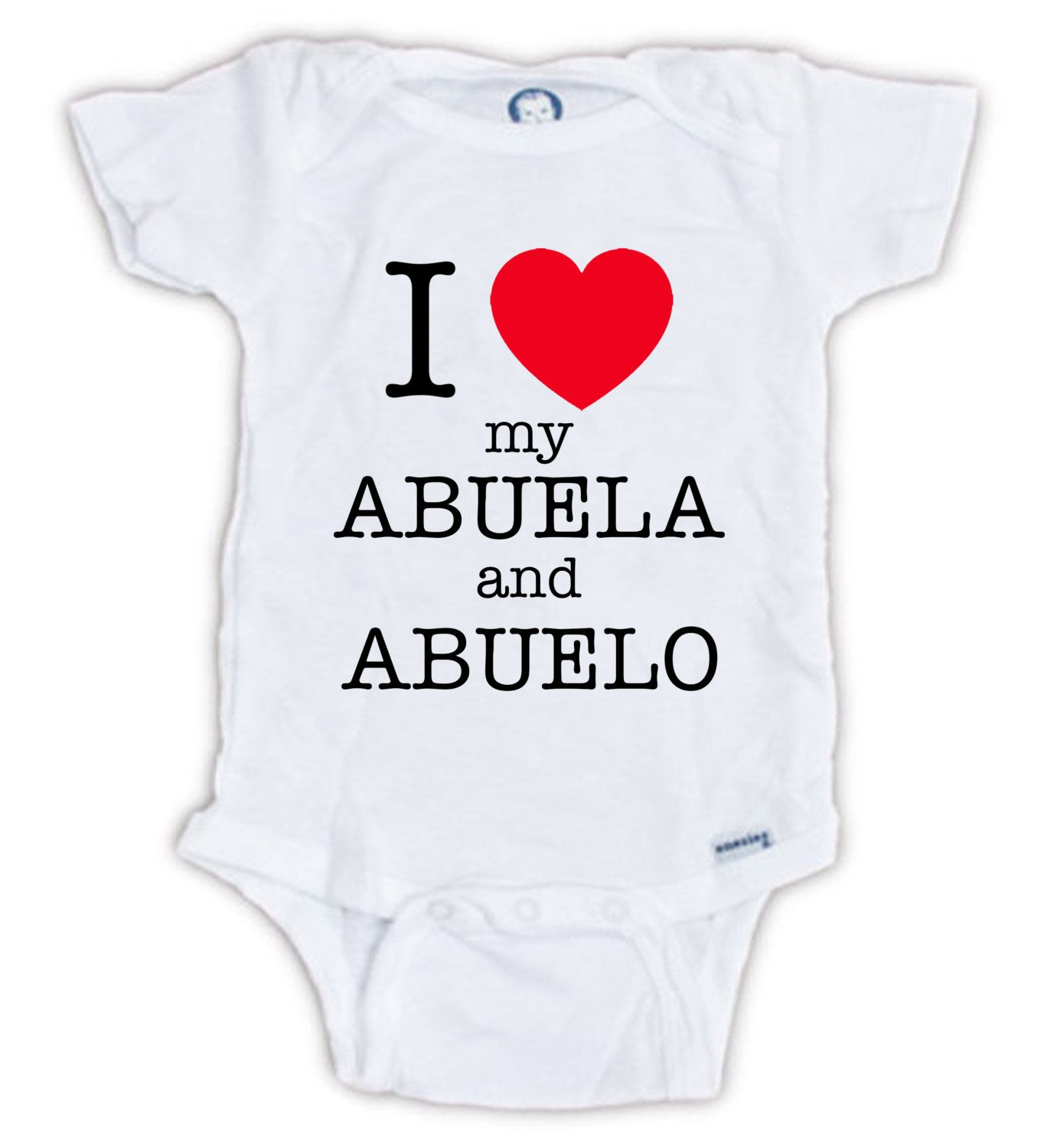 bc734605c I Love my Abuela and Abuelo Spanish onesie by JujuApparel