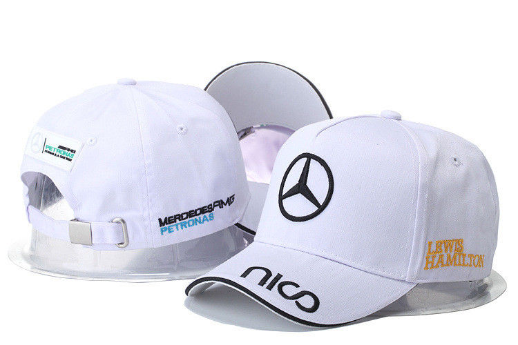 5d23990c91b Mercedes-Benz² Logo Amg Car Cap Sport Baseball Hat Outdoor Adjustab White