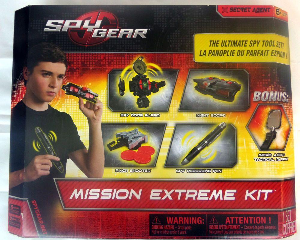 spy gear mission extreme kit ultimate spy tool kit secret agent 6 new spinmaster. Black Bedroom Furniture Sets. Home Design Ideas