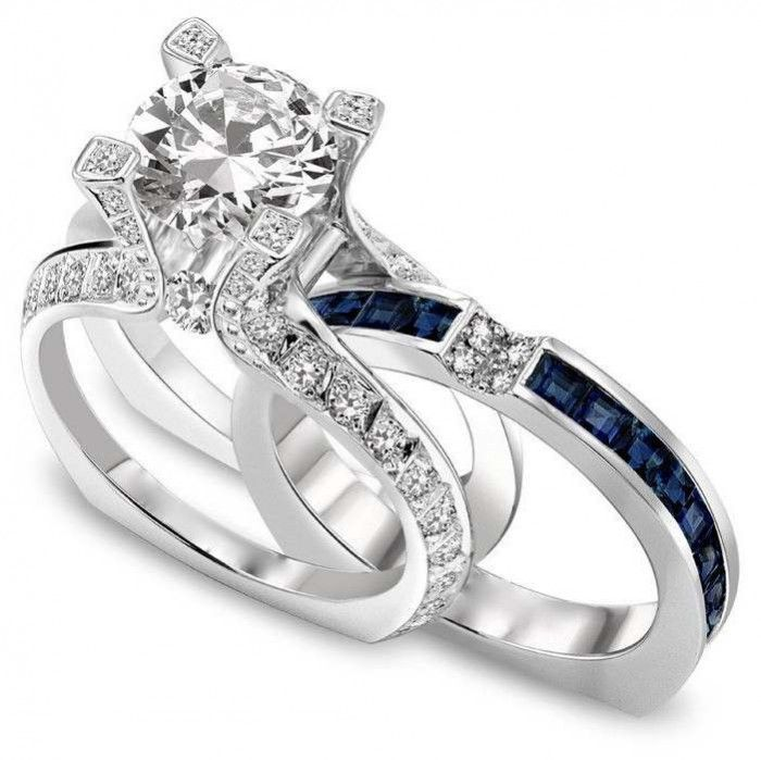 Simple Diamond Engagement Rings With Wedding Bands