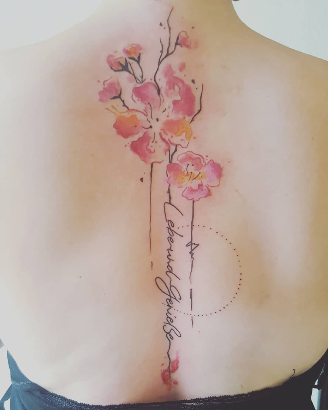 Cora Linez Cora Linez Tatto Art Kirschbluten