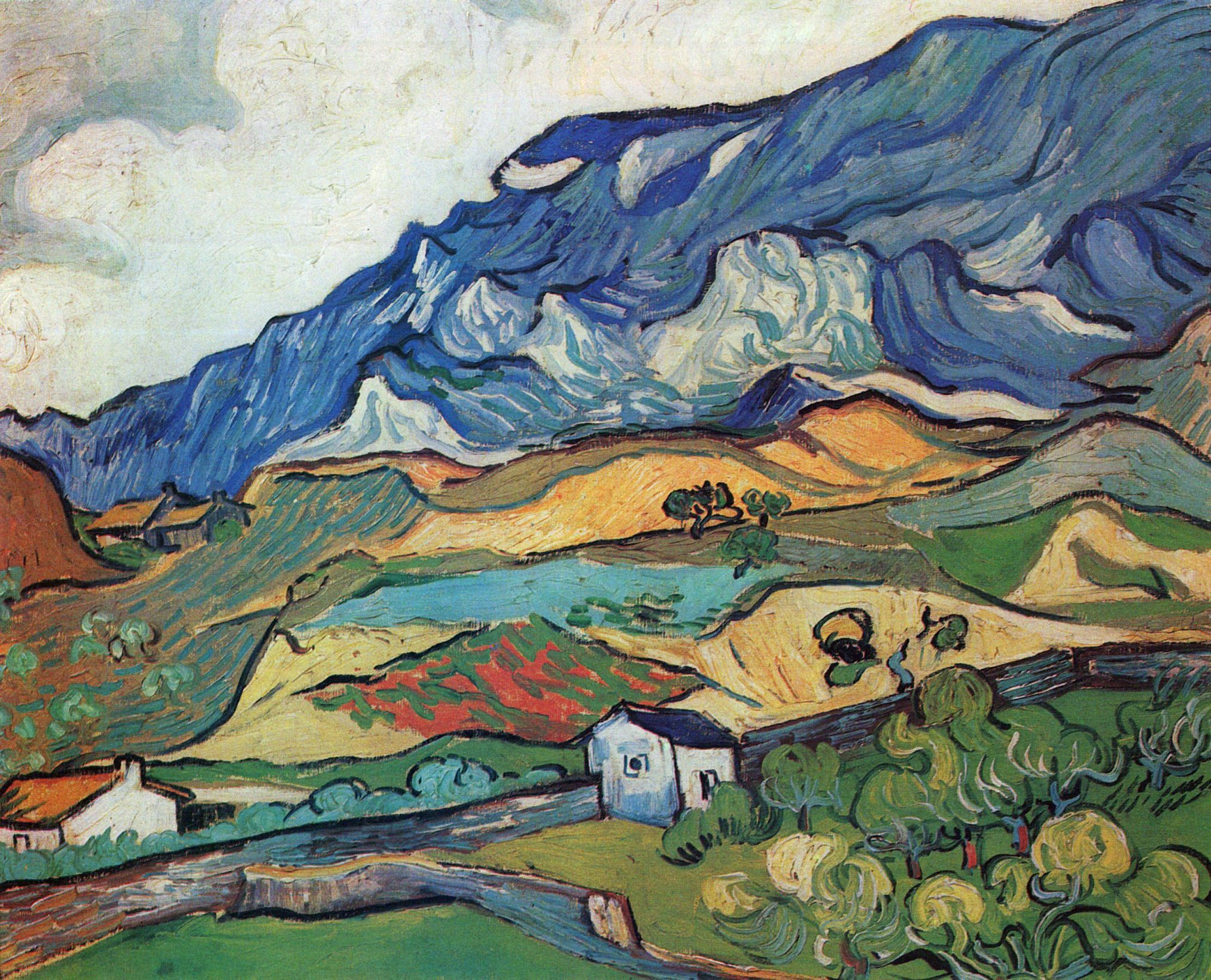 Les Alpilles, Mountain Landscape - Vincent van Gogh - 1889 - Place ...