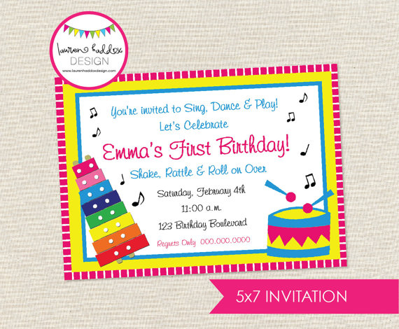 Music Birthday Invitation Music Birthday Music Printables Music