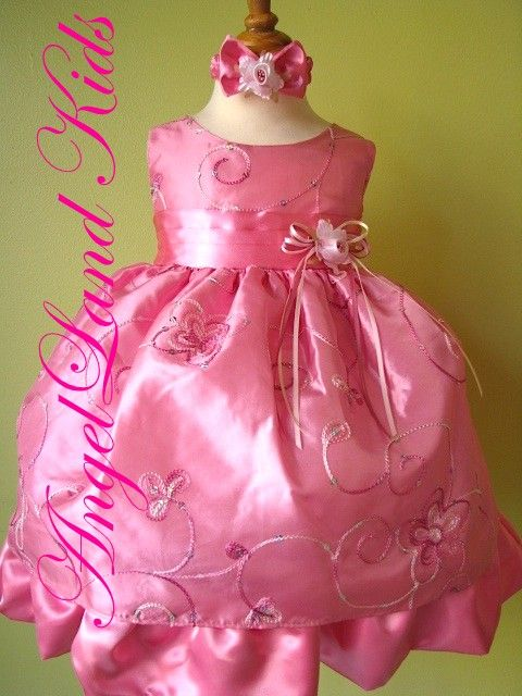 e935be7c2 Affordable Pink Baby Easter Dresses. Beautiful Baby Girls Easter Dresses