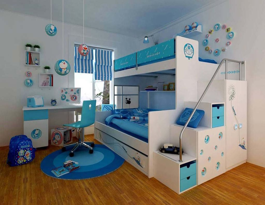 doraemon themed funky bunk beds Kids Rooms Pinterest