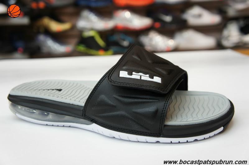 75ece1ea11a7 Black · Black White Strata Grey 554713 010 Nike Air LeBron Slide 2