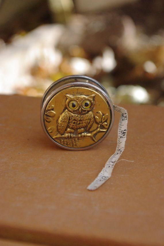 Antique-owl-tape-measure