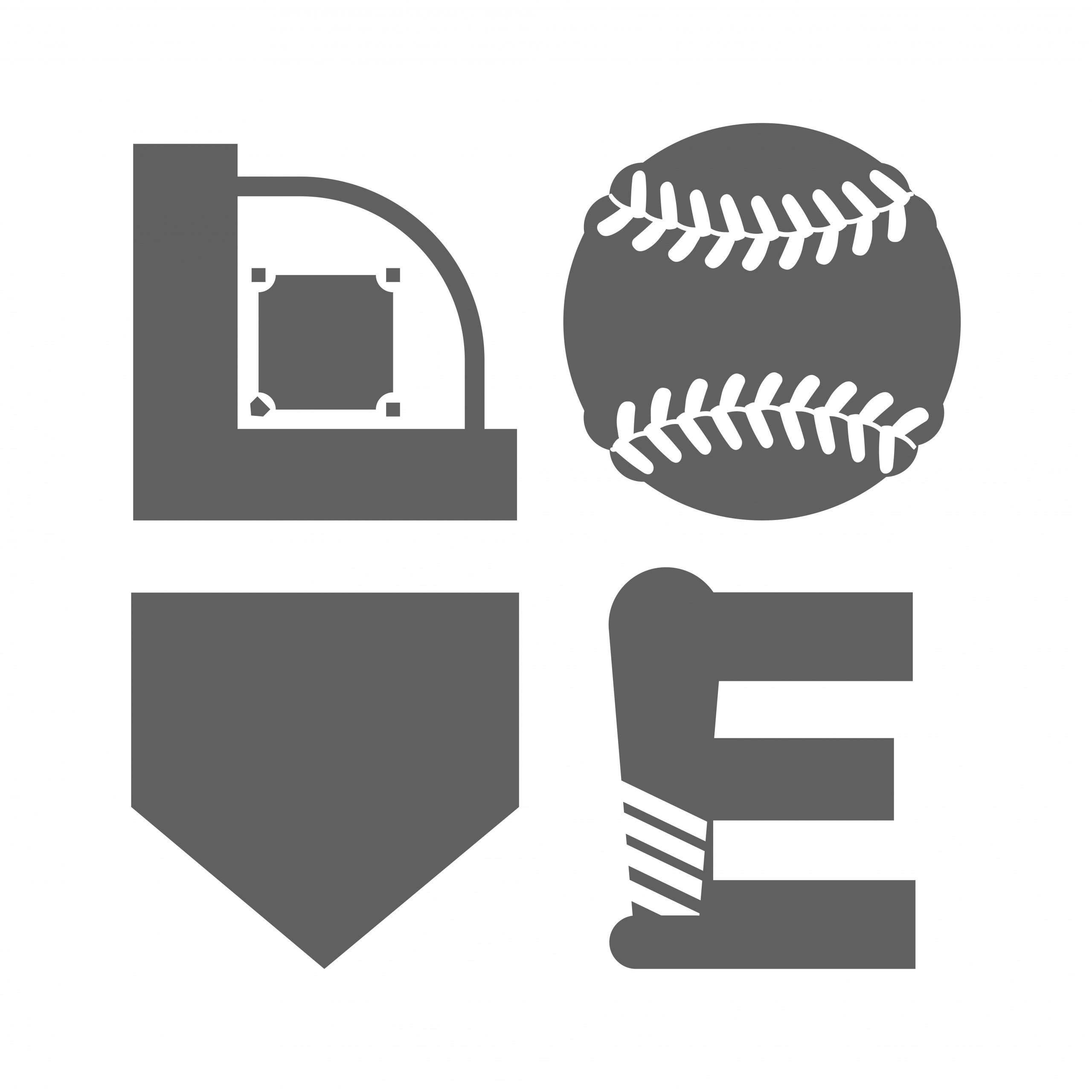 """Download """"Baseball Love"""" SVG & Clipart in 2020 (With images) 