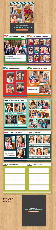 School Yearbook Template | pedagogy | Pinterest | Anuarios ...