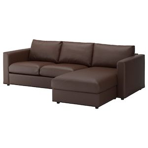 Vimle 3er Sofa Mit Recamiere Farsta Dunkelbraun Ikea Deutschland In 2020 3er Sofa Sofa Stoff Sofa Sessel