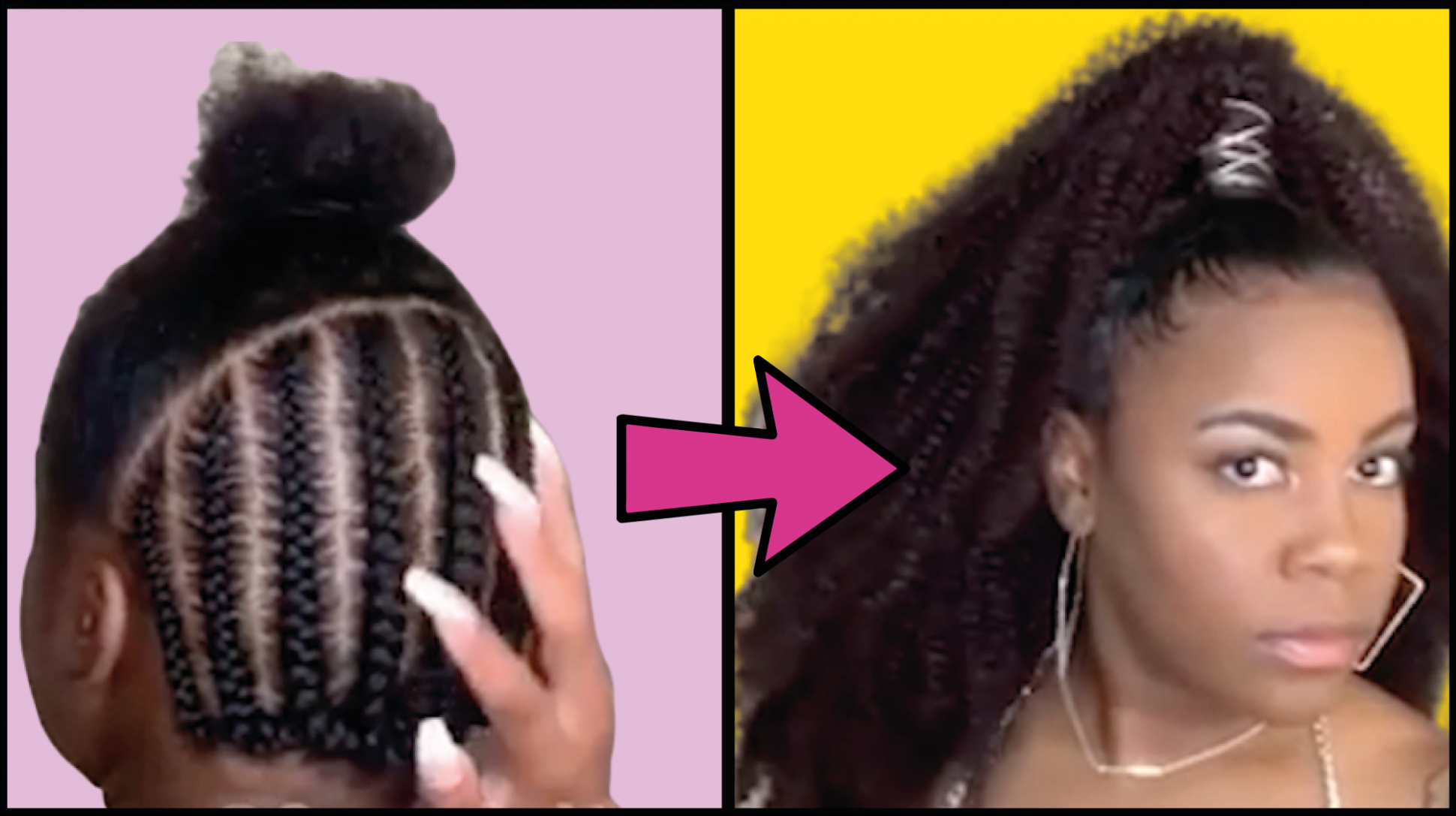 Up And Down Black Hairstyle In 2020 Hair Styles Half Up Half Down Hair Crochet Hair Styles