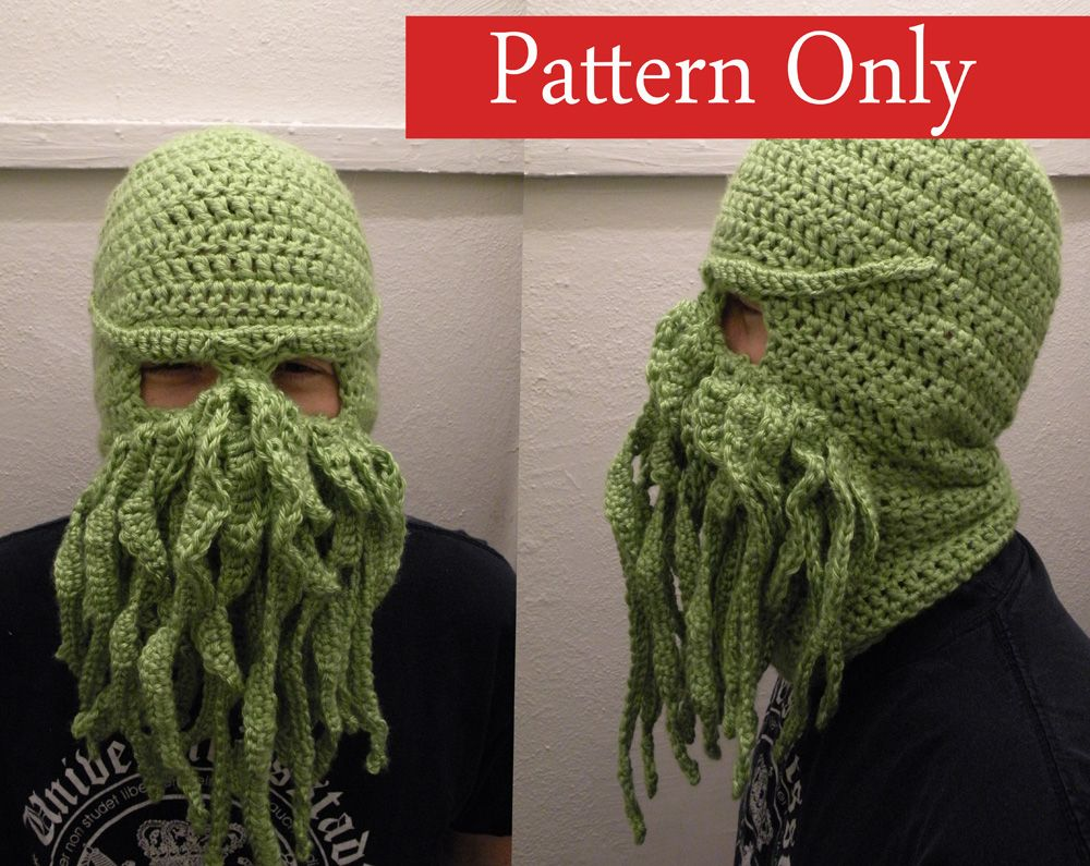 Cthulhu Ski Mask Crochet Pattern - Thumbnail 1 | Crafting, How-tos ...