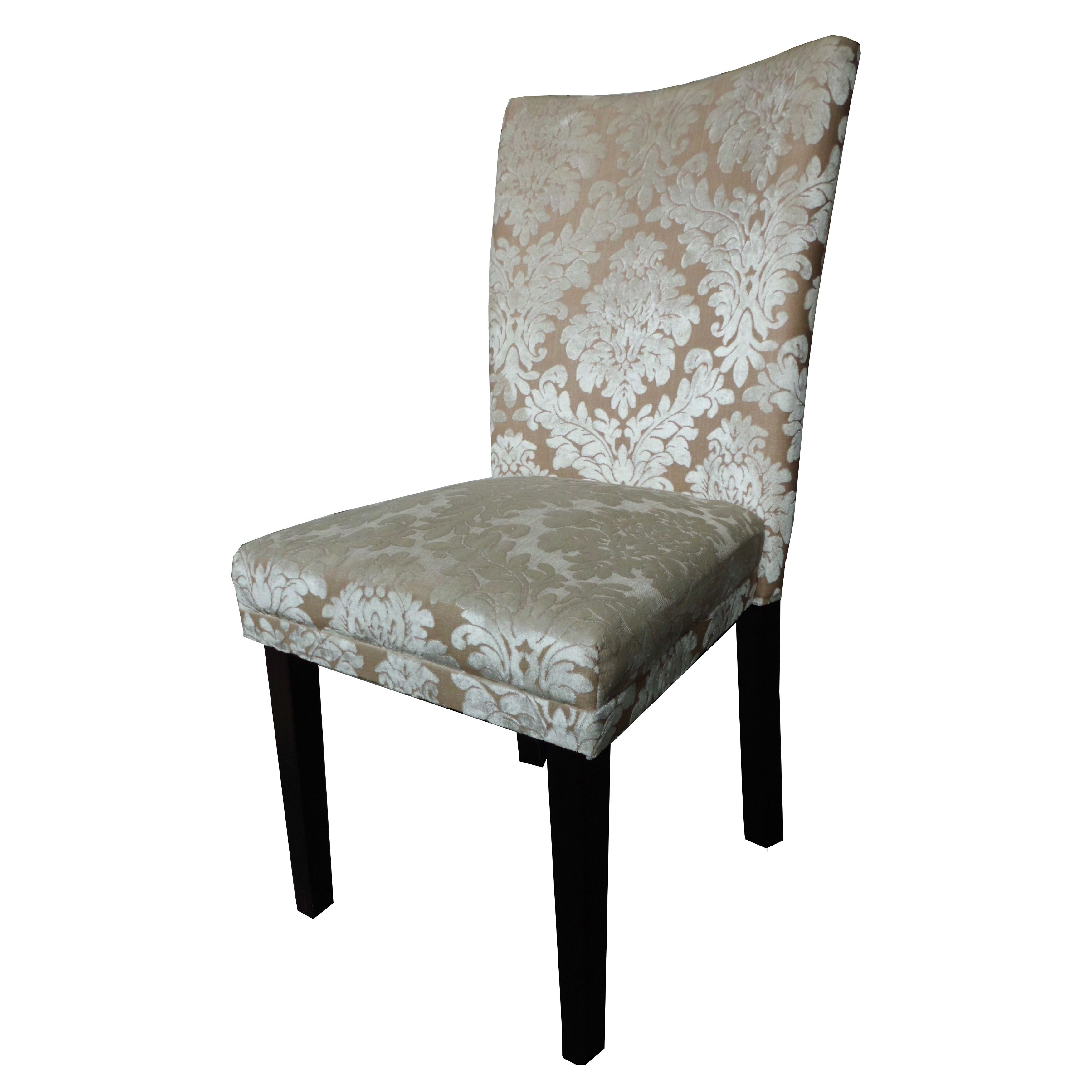 This damask dining chairs set adds a touch of beauty to your