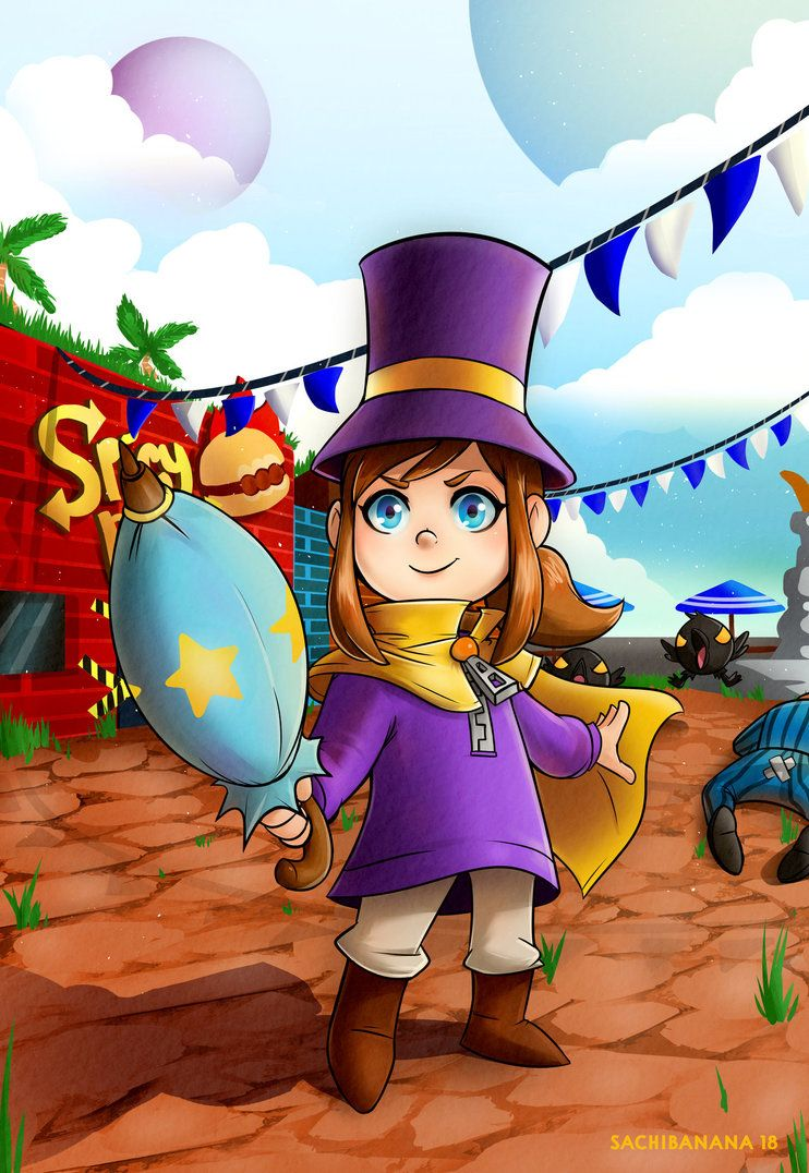 Hat Kid By Sachibana A Hat In Time A Hat In Time Hat Kid A Hat In Time Fanart