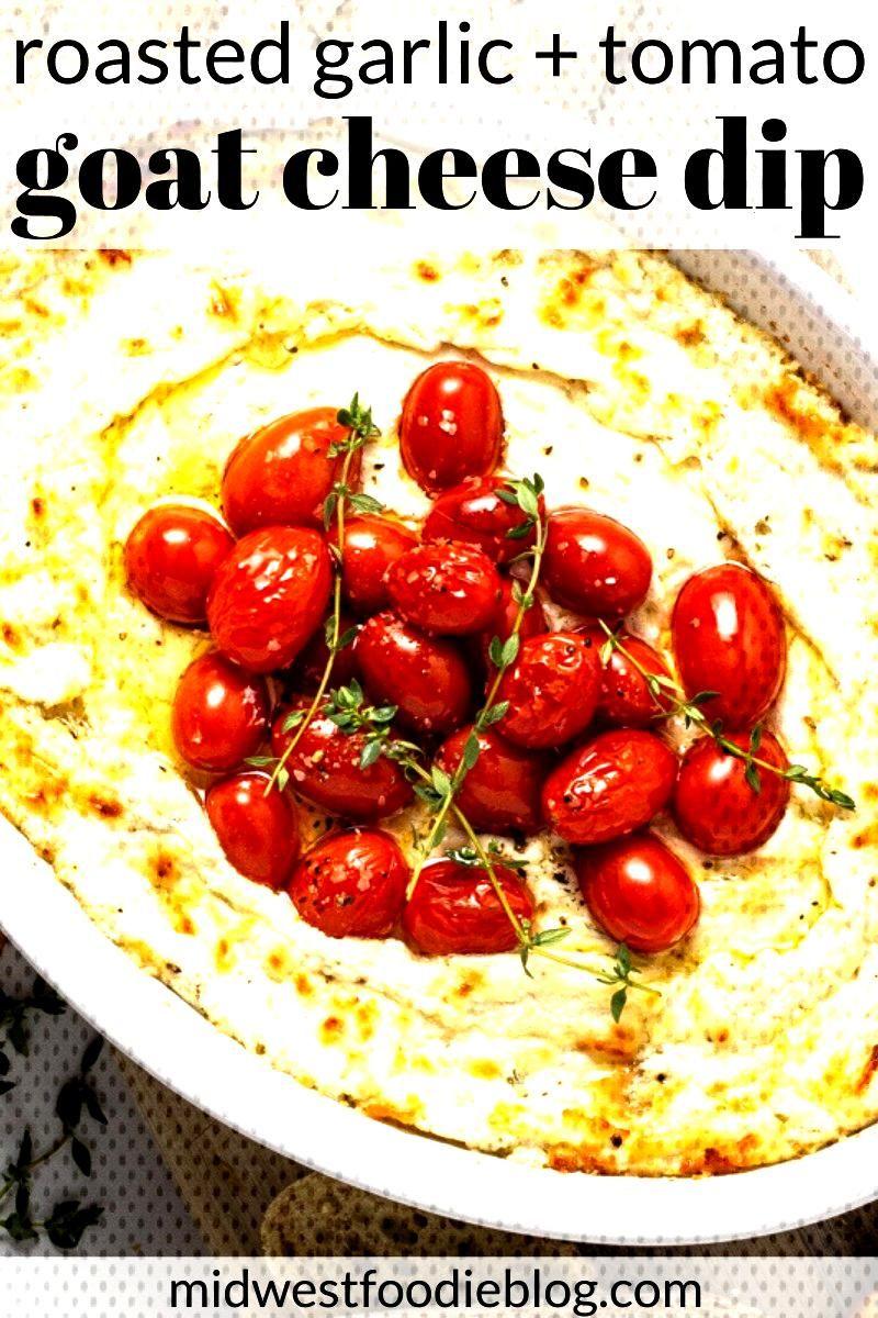 Roasted Garlic Goat Cheese Dip -