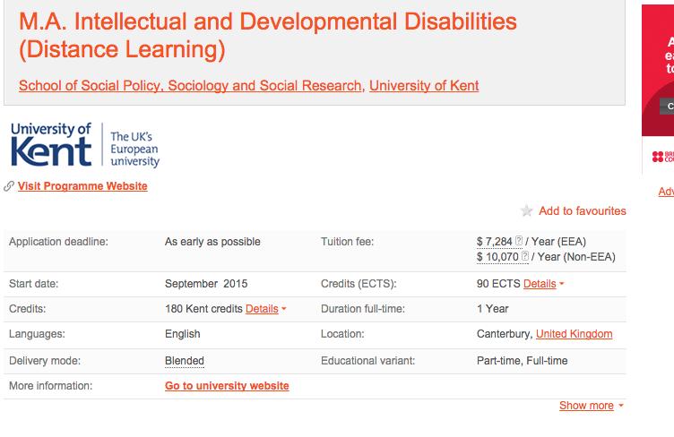 http://www.mastersportal.eu/studies/30555/intellectual-and-developmental-disabilities.html
