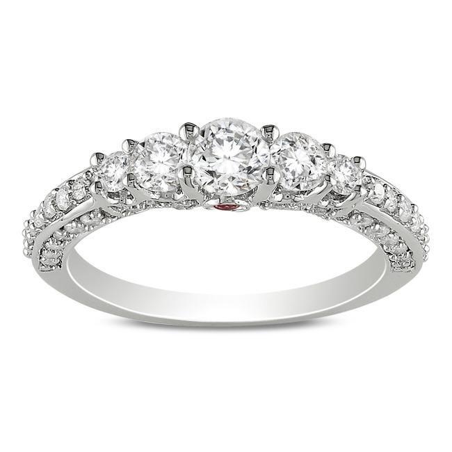 Miadora 14k Gold 1ct TDW Diamond and Sapphire Ring
