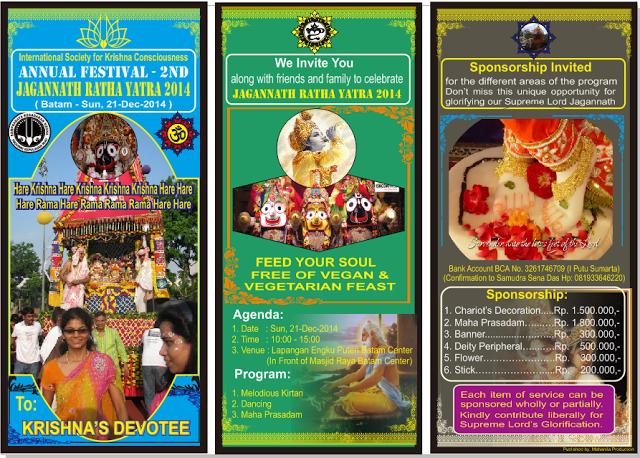Hare Krishna Batam: The 2nd Annual Ratha Yatra Batam Sunday 21-Dec-201...