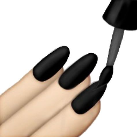 Black Nails Emoji By Lazyville In 2020 Tumblr Transparents Emoji Nails Black Nails