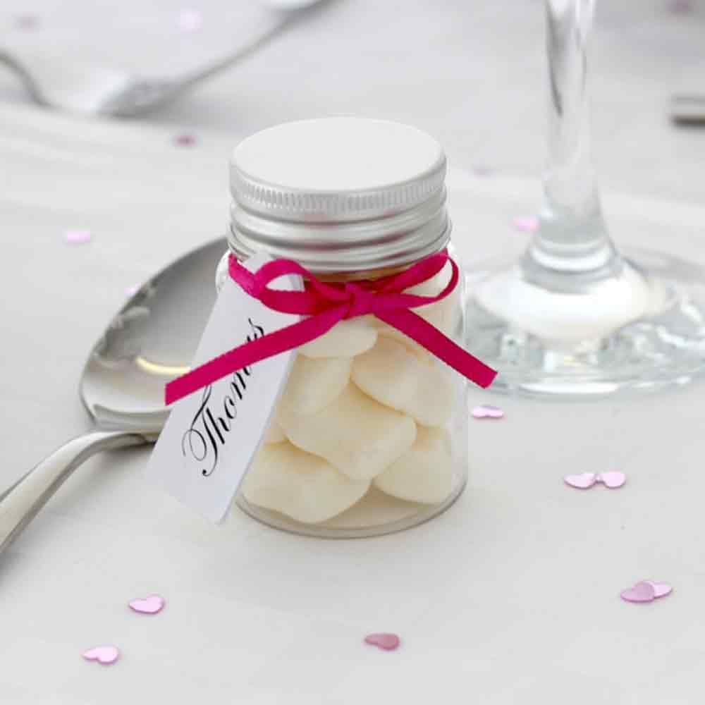 Mini Filled Wedding Favour Jar with Milk Bottles | Wedding Favours ...