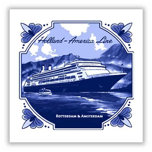 Our 2012/2013 Mariner tile for the ms Rotterdam & Amsterdam. #HAL #Mariner #Delft