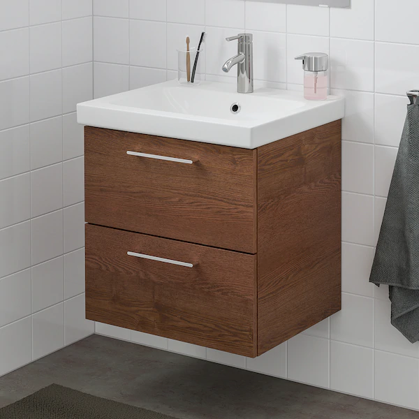 Ikea Godmorgon Odensvik Brown Stained Ash Effect Dalskar Faucet
